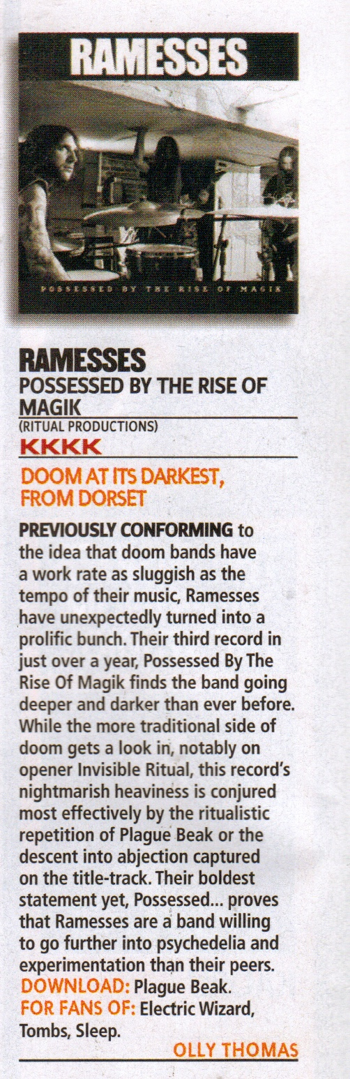 Ramesses Kerrang Review July 2011