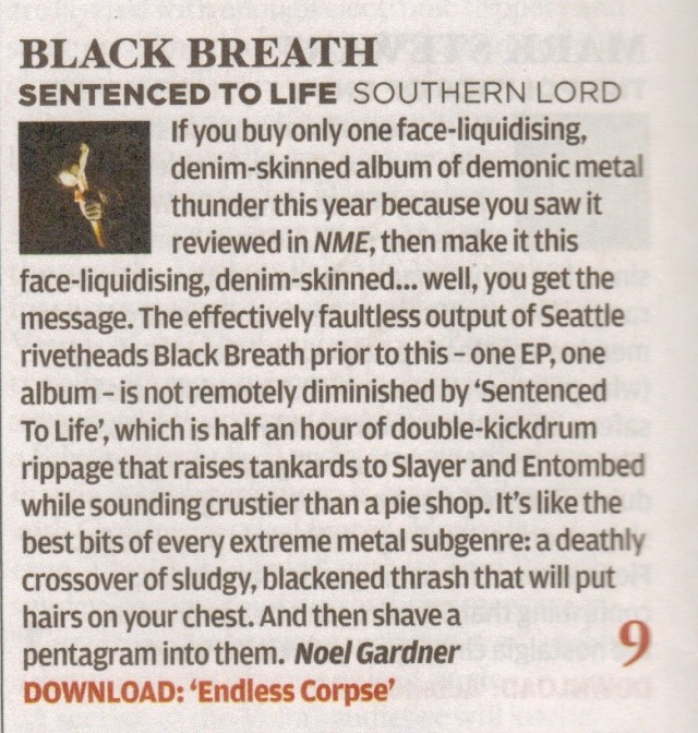 Black Breath_NME review_21 March issue 2012