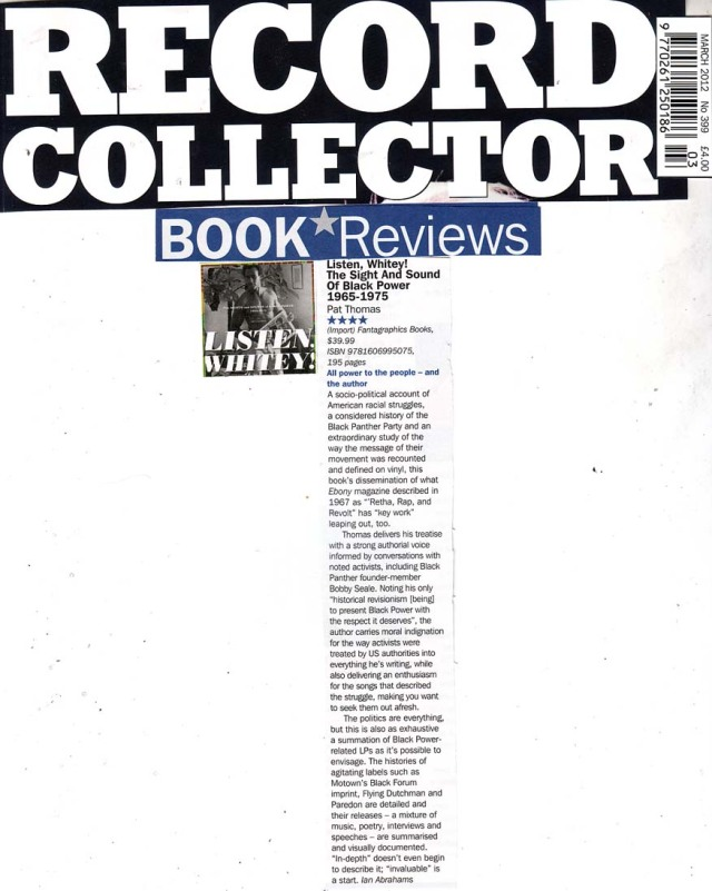 Record Collector Book Review March 2012