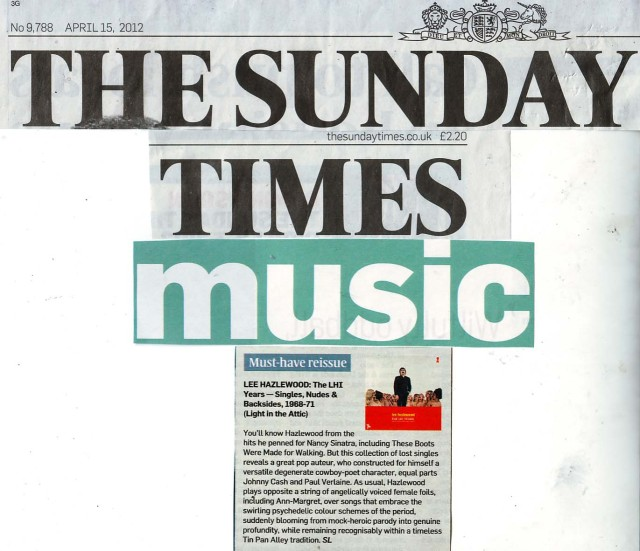 SundayTimesMustHaveReissue15April2012 - Lee Hazlewood