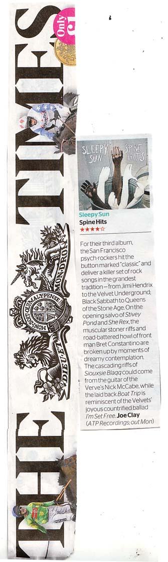 Sleepy Sun The Times Album Review 7April2012