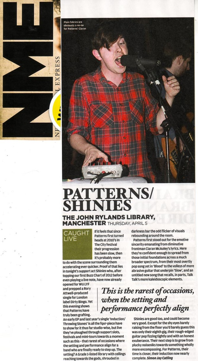 Patterns NME Radar Live Review 9May2012