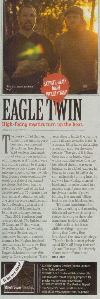 Eagle Twin_Metal Hammer review_September 2012