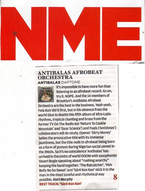 Antibalas NME