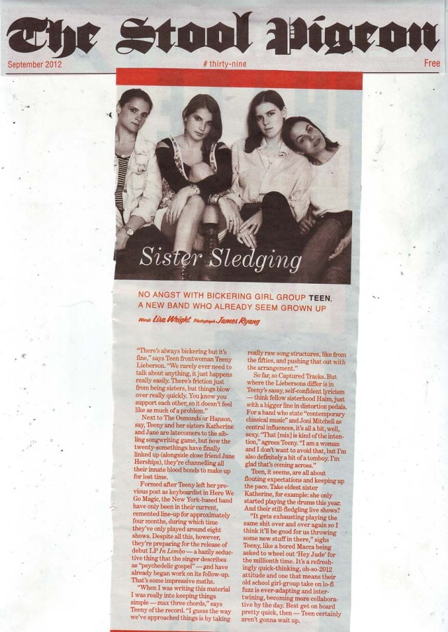 Stool Pigeon Feature September2012