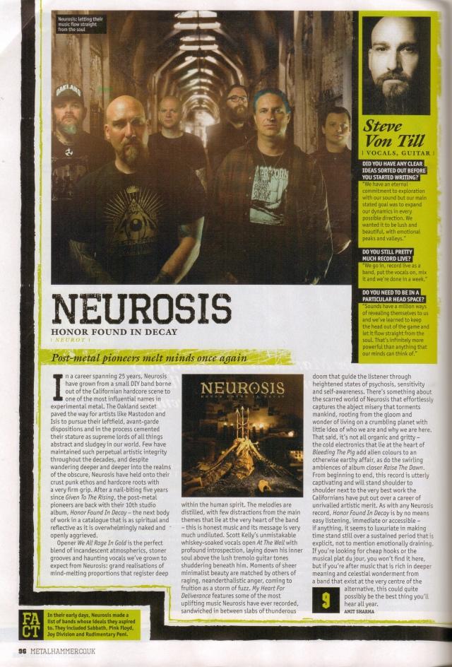 Neurosis Metal Hammer Lead album review